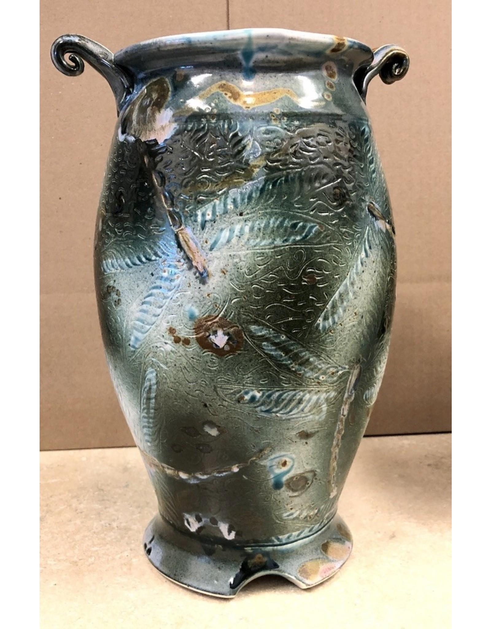 Gail Snively VASE (Carved Dragonfly, Lg, #440)