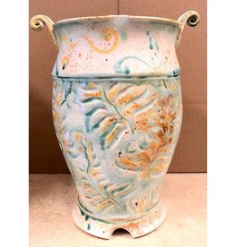 Gail Snively VASE (Carved Fern, #0308)