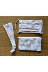 Paula Moore MASK POUCH SET (Mask, Headband, Zippered Pouch, PAUM)