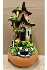 Ingrid Hooper Candle House w/Apple Tree (Clay Touch H1MA)