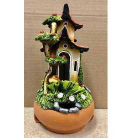 Ingrid Hooper Candle House w/Apple Tree (Clay Touch H1MA, INGH)