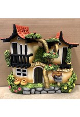 Ingrid Hooper Duplex House w/Apple Tree (Clay Touch H10A, INGH)
