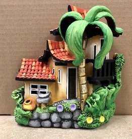 Ingrid Hooper Triplex House w/Tile Roof & Palm Tree (Clay Touch H43L3P)