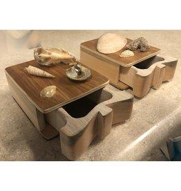 Don Snyder Jewelry Box w/Shells (Wood, 1 DWR, ASST)
