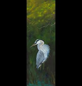 "Guy LeFebvre Great Blue Heron 5 (Giclee on Aluminum, 8x20"")"