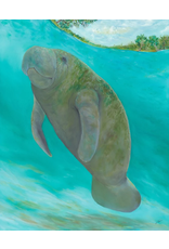 "Guy LeFebvre Manatee Island (Giclee on Canvas, Gallery Wrap, 24x30"" GUYL)"