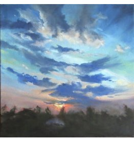 Michaelann Bellerjeau STOP AND STARE, framed archival giclee on canvas, 12x12, MICB