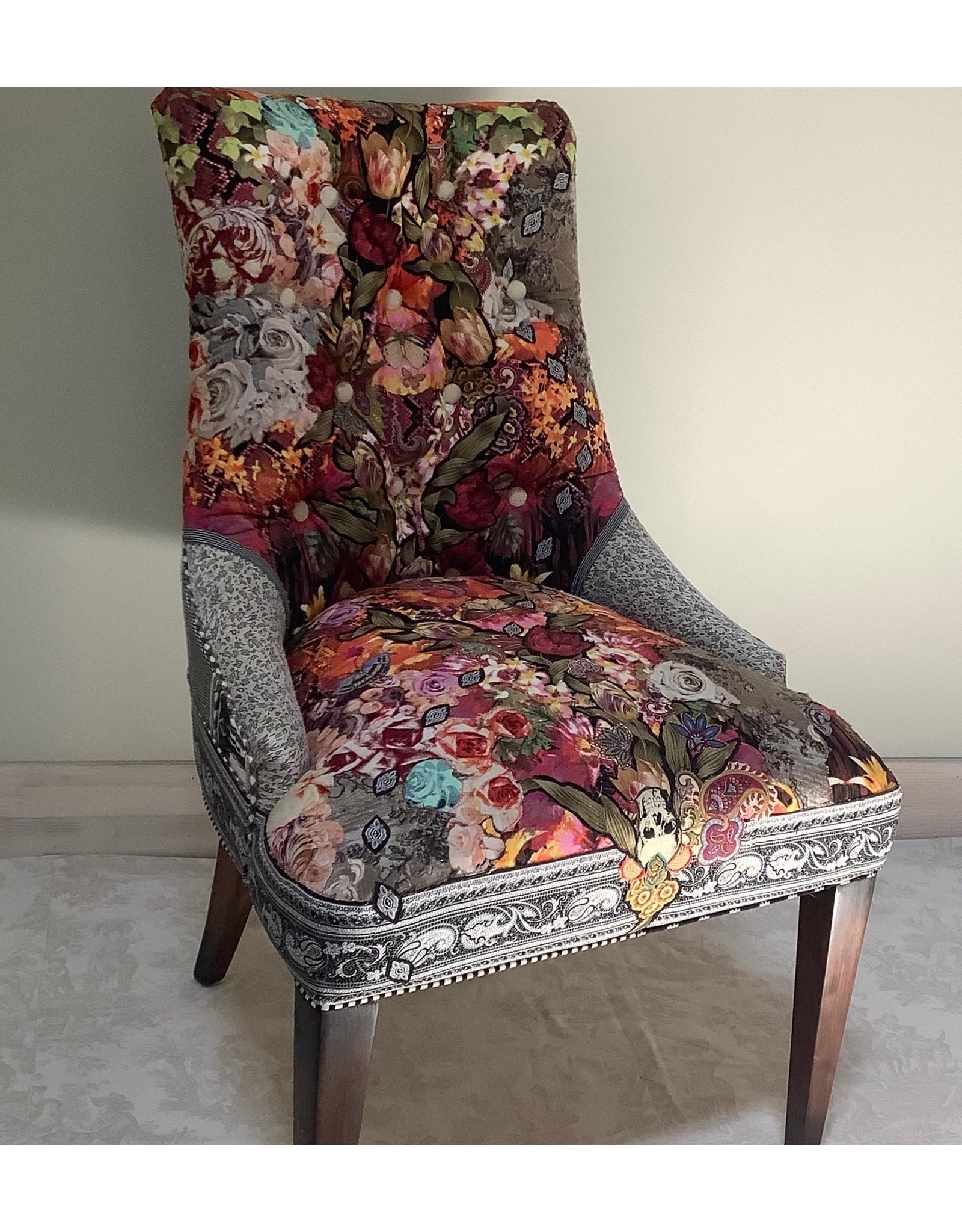 C. Darden Designs High back side chair w/Timney Fowler designer panel) CDAR
