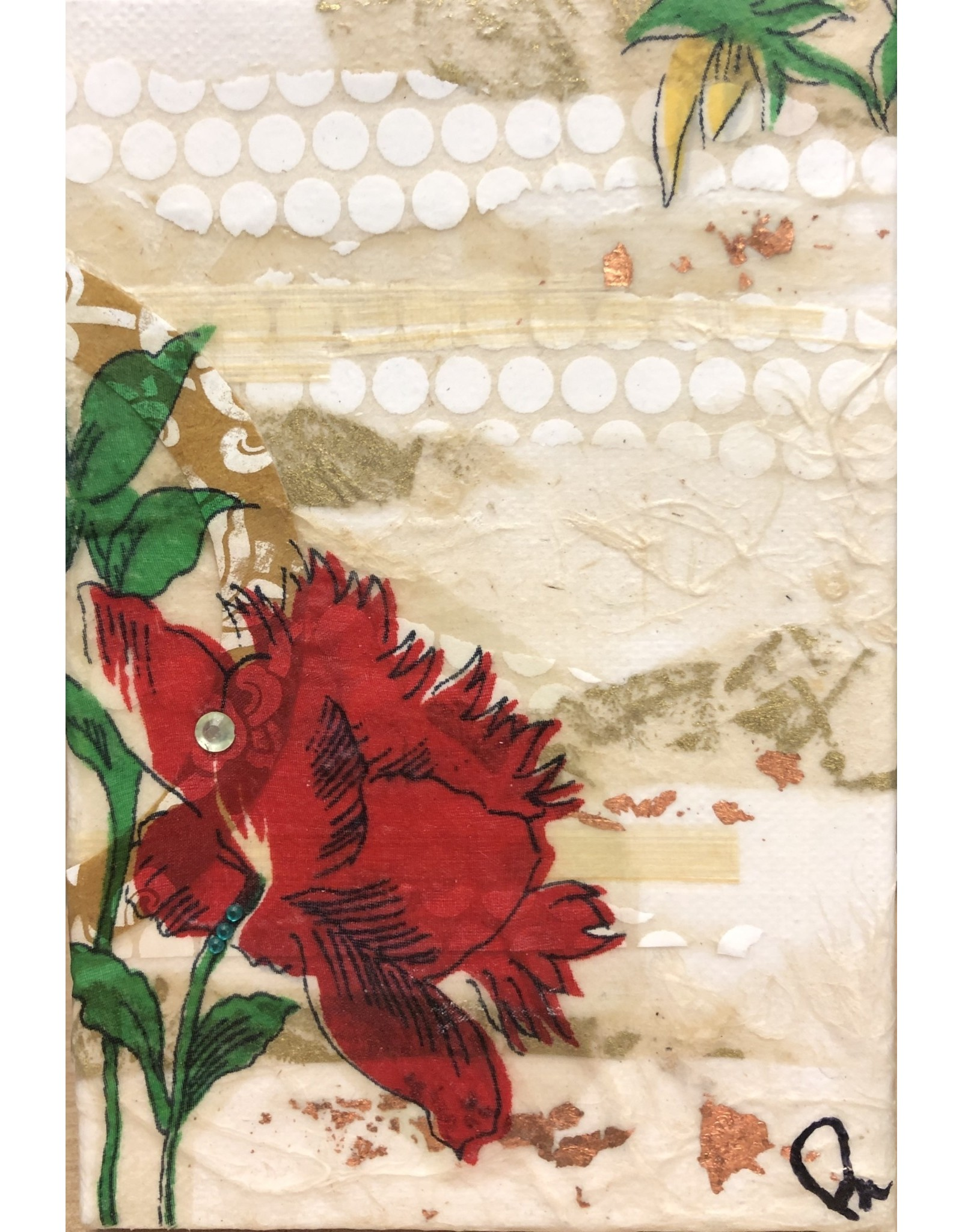 "Pam Maschal TEXTILE, FLORAL (Mixed Media, 4x6"" PAMM)"