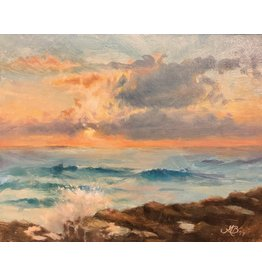 "Michaelann Bellerjeau MORNING SPARKLE  (oil on board, 10x12 framed"" MICB)"