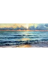 "Michaelann Bellerjeau MORNING'S SWELL (oil on gallery wrapped canvas, 12x24"" MICB)"
