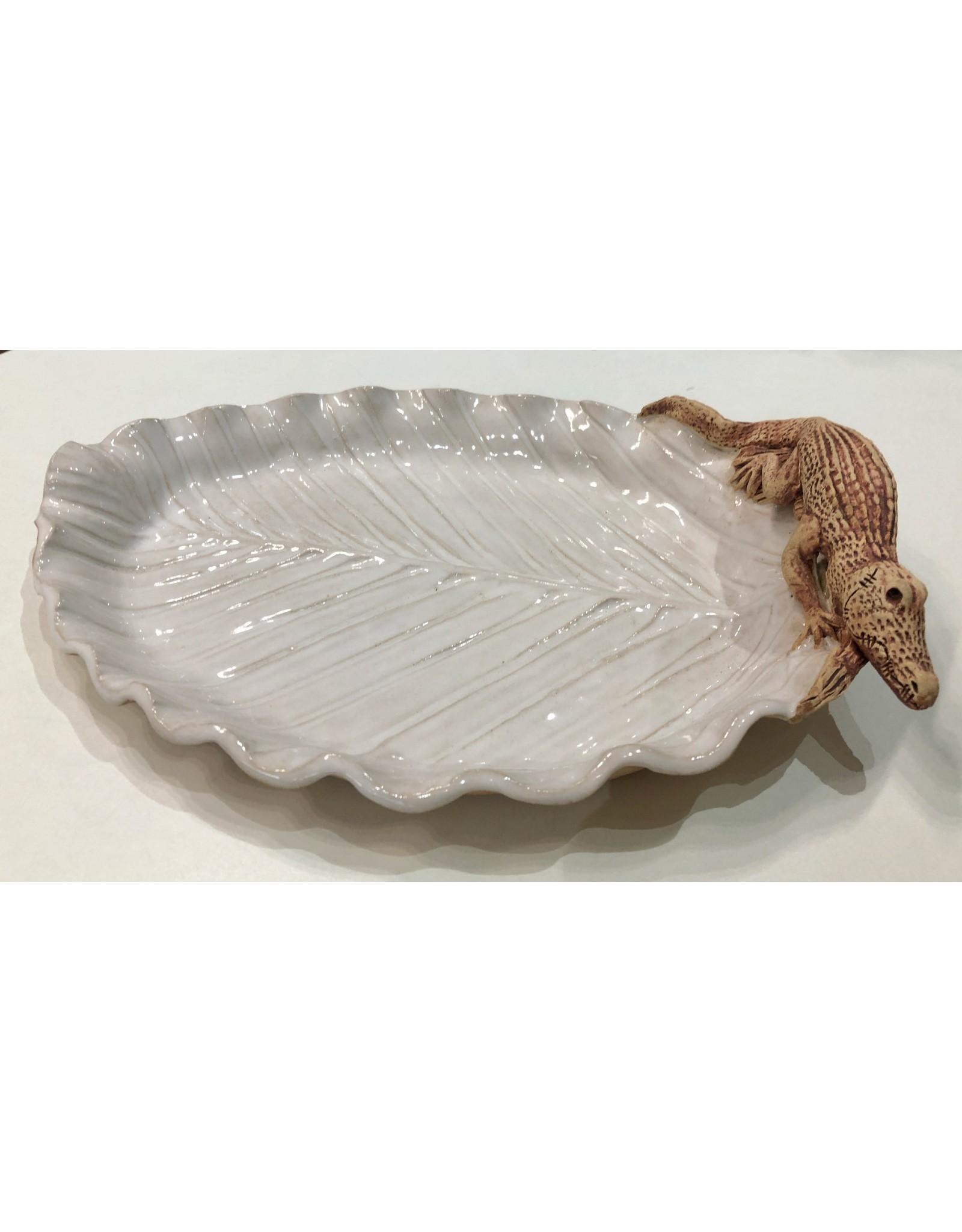 Charlestowne Porcelaine DISH (Palm Leaf, gator or shell, #216, CHAP)