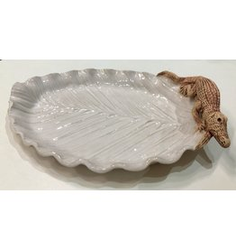 Charlestowne Porcelaine DISH (Palm Leaf, gator or shell, #216, CHAP)