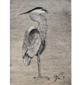 "Molly Pearce Blue Heron (8x11"" MOLP)"