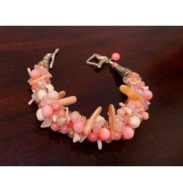 """Susan Estrella Pinkaliscious, Kumihimo, bracelet  6.5"""", SUSE"""