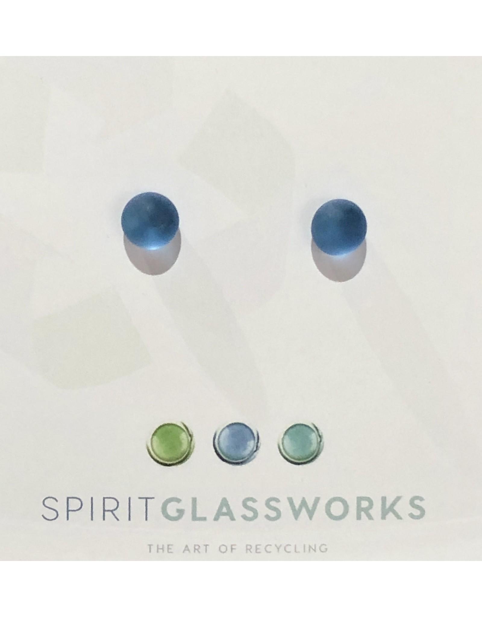 Spirit Glassworks EARRINGS (Post Stud, Recycled Glass Bottles, MELW)