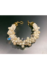 "Susan Estrella Cream Dream, Kumihimo, bracelet  6"", SUSE"