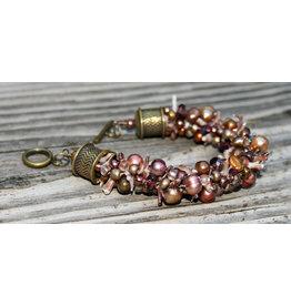 Susan Estrella Mocha Bliss, Kumihimo, bracelet, small, SUSE