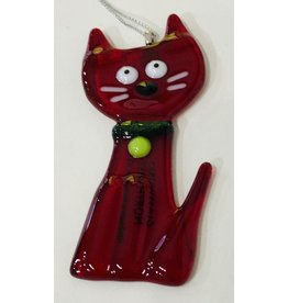 Glassworks Northwest CAT ORNAMENT (new 2020) (KTK)