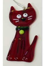 Glassworks Northwest CAT ORNAMENT (new 2020) (KTK)