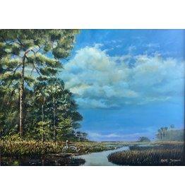 "Mark Johnson Savannahs (Original Oil, framed, 35x45"" MARJ)"