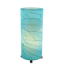 "Eangee Home Design Lamp, EANGEE, Cocoa Leaf Cylinder, 17x7"", sea blue"