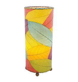 """Eangee Home Design Lamp, EANGEE, Cocoa Leaf Cylinder, 17x7"""", multi"""