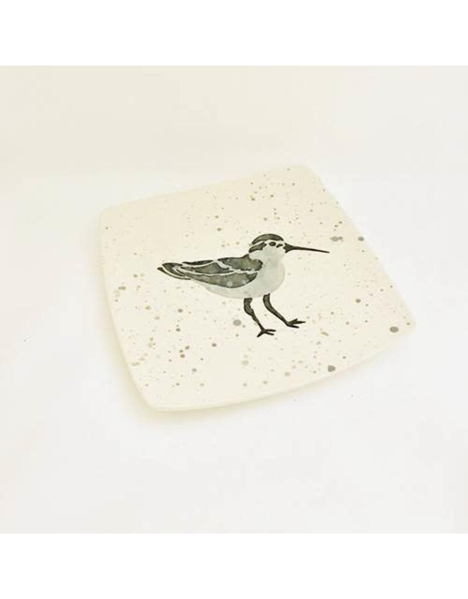 "Sara Hunter PLATE (Shore Bird, 8.5""SQ., SARH)"