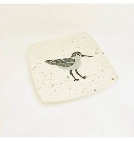 "Sara Hunter PLATE (Shore Bird, 8.5""SQ., SARH)"