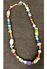 RARE EARTH FINDS BEADED NECKLACE, Native American Artist Design, single strand, RARE