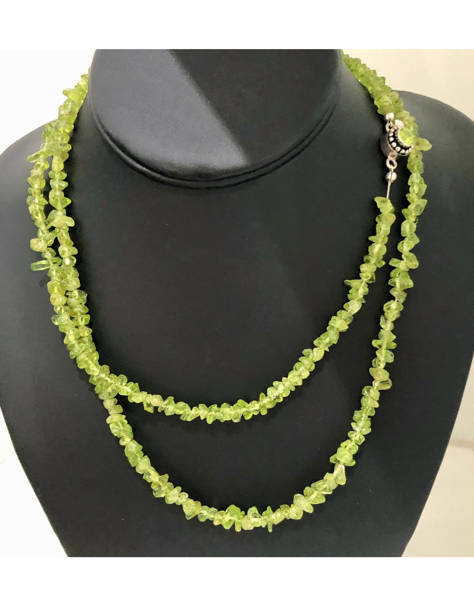 """Mary Chase NECKLACE. Peridot, single strand, 17"""", MARCH"""