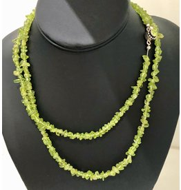 "Mary Chase NECKLACE. Peridot, single strand, 17"", MARCH"