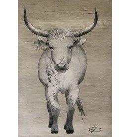 """Molly Pearce FLORIDA CRACKER COW (17x11"""" MOLP)"""