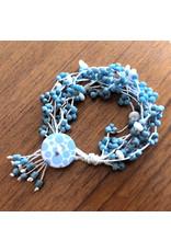"""Susan Estrella WAX/LINEN BLUE, bracelet, fits 6"""" wrist, SUSE"""