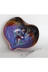 "Larrabee Ceramics HEART BOWL, 8"" LARR"