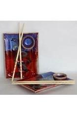 Larrabee Ceramics SUSHI TRAY w/chopsticks, LARR