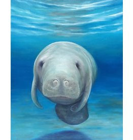 Susan Roberts BREE THE MANATEE (Giclee, Ltd. Ed, Gallery Wrap, 8x10, SUSR)