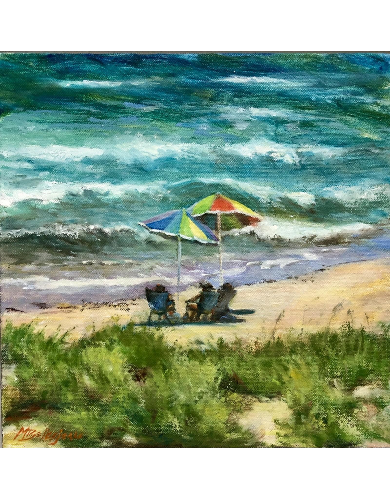 Michaelann Bellerjeau SANTA LUCIA SUNDAY, oil on gallery wrap canvas, 12x12, MICB)