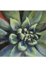 "Michaelann Bellerjeau SUCCULENT,  acrylic on gallery wrap canvas, 4x4"", MICB)"