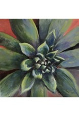 "Michaelann Bellerjeau SUCCULENT,  acrylic on gallery wrap canvas, 6x6"", MICB)"