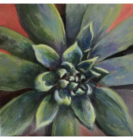 "Michaelann Bellerjeau SUCCULENT,  acrylic on gallery wrap canvas, 6x6"", MICB)"