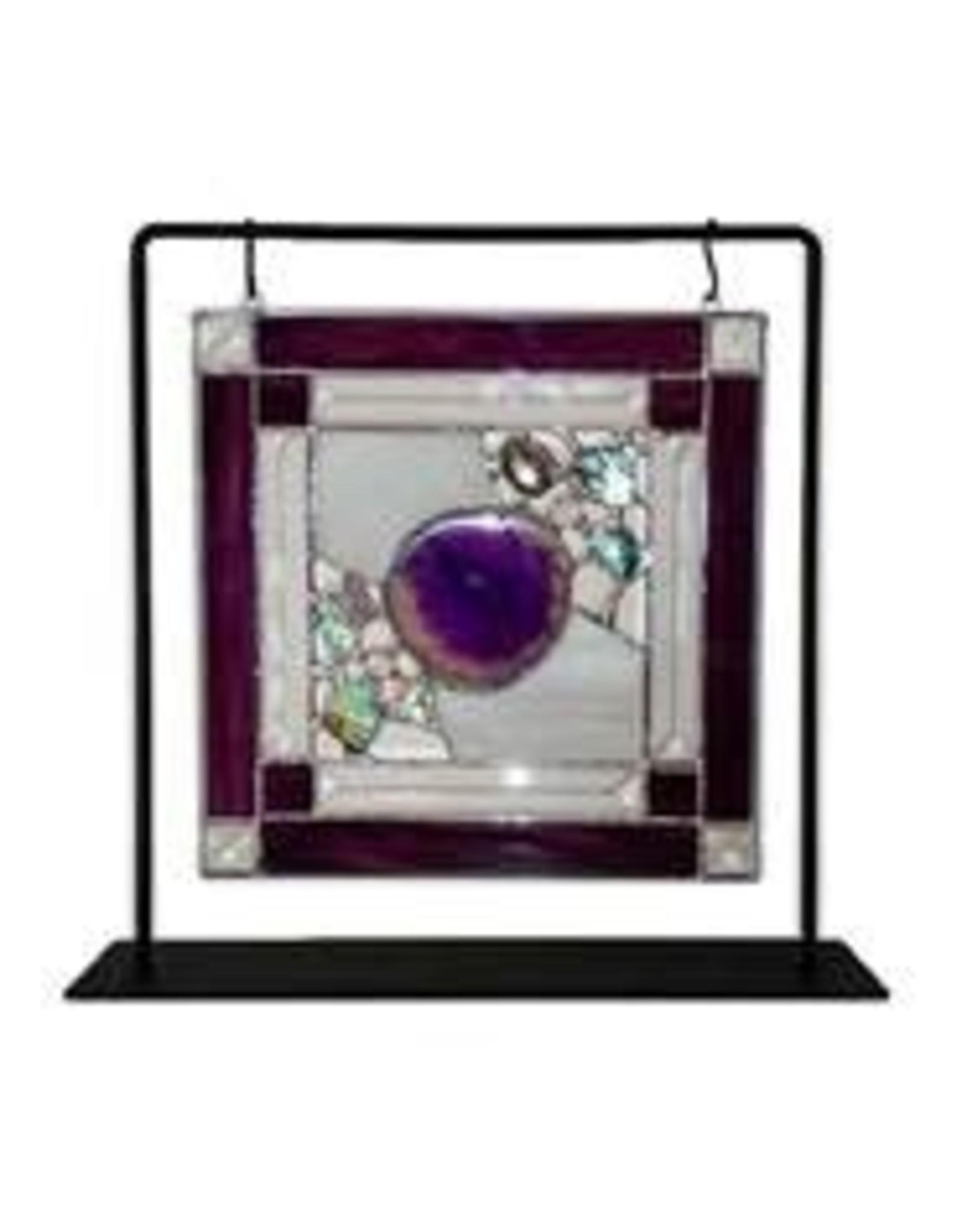 "My Wildest Dreams Studio Nature's Glory panel (Agate Purple  10x10"" w/hanging frame)CHIR"