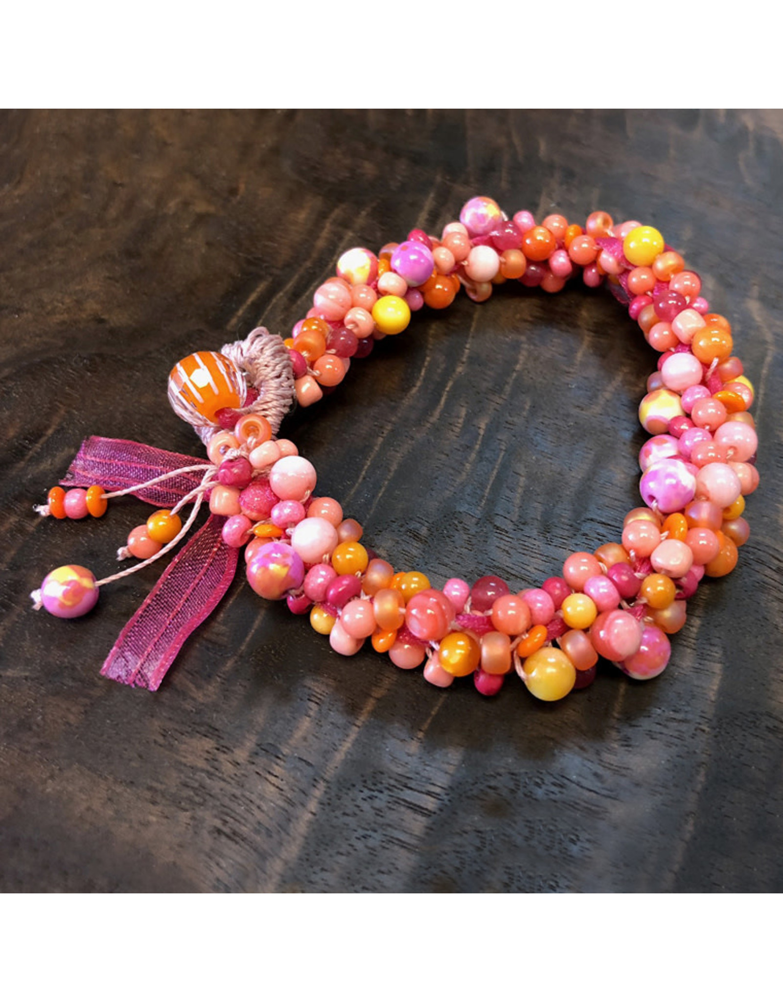 "Susan Estrella SUMMER Kumihimo bracelet, fits 6.75"" wrist, SUSE"