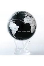 "Mova Globes BLACK & SILVER (MOVA Globe 4.5"" w/Acrylic Base)"