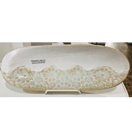"Clarkware Pottery BREAD BASKET, Elegant Lace, 14x5"", CLARK"