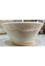 "Clarkware Pottery BOWL, ICE CREAM Elegant Lace, 5"" (CLARK)"