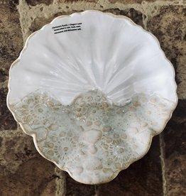 Clarkware Pottery SHELL SHALLOW BOWL  (CLARK)