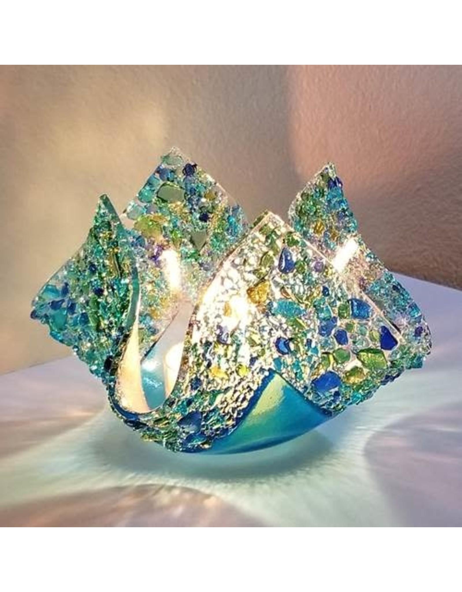 """Glassworks Northwest VOTIVE, GLASSWORKS NW, glass, 5"""", KTK"""