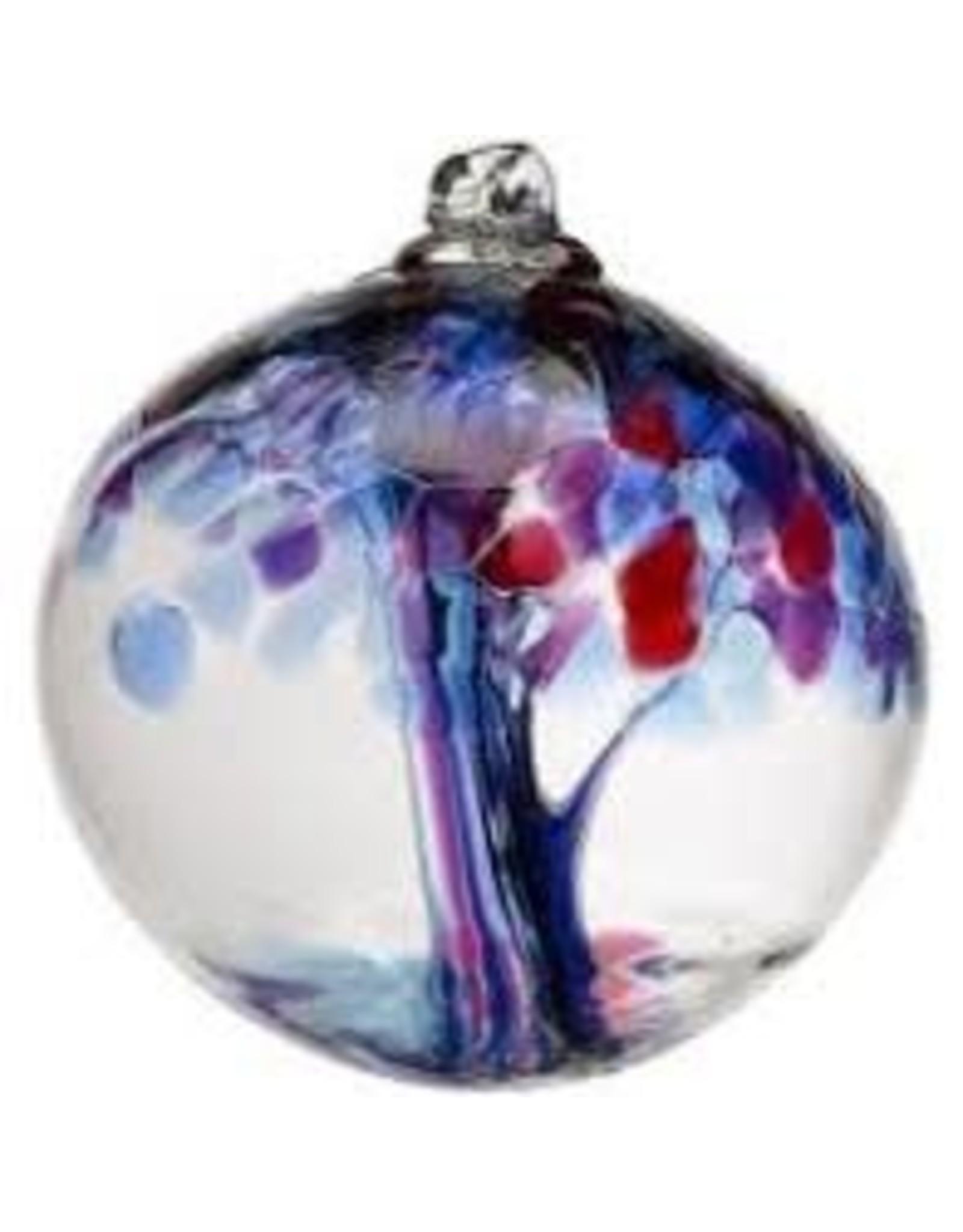 """Kitras Art Glass FAITH (Trees of Enchantment, 6"""" D., KITRAS)"""