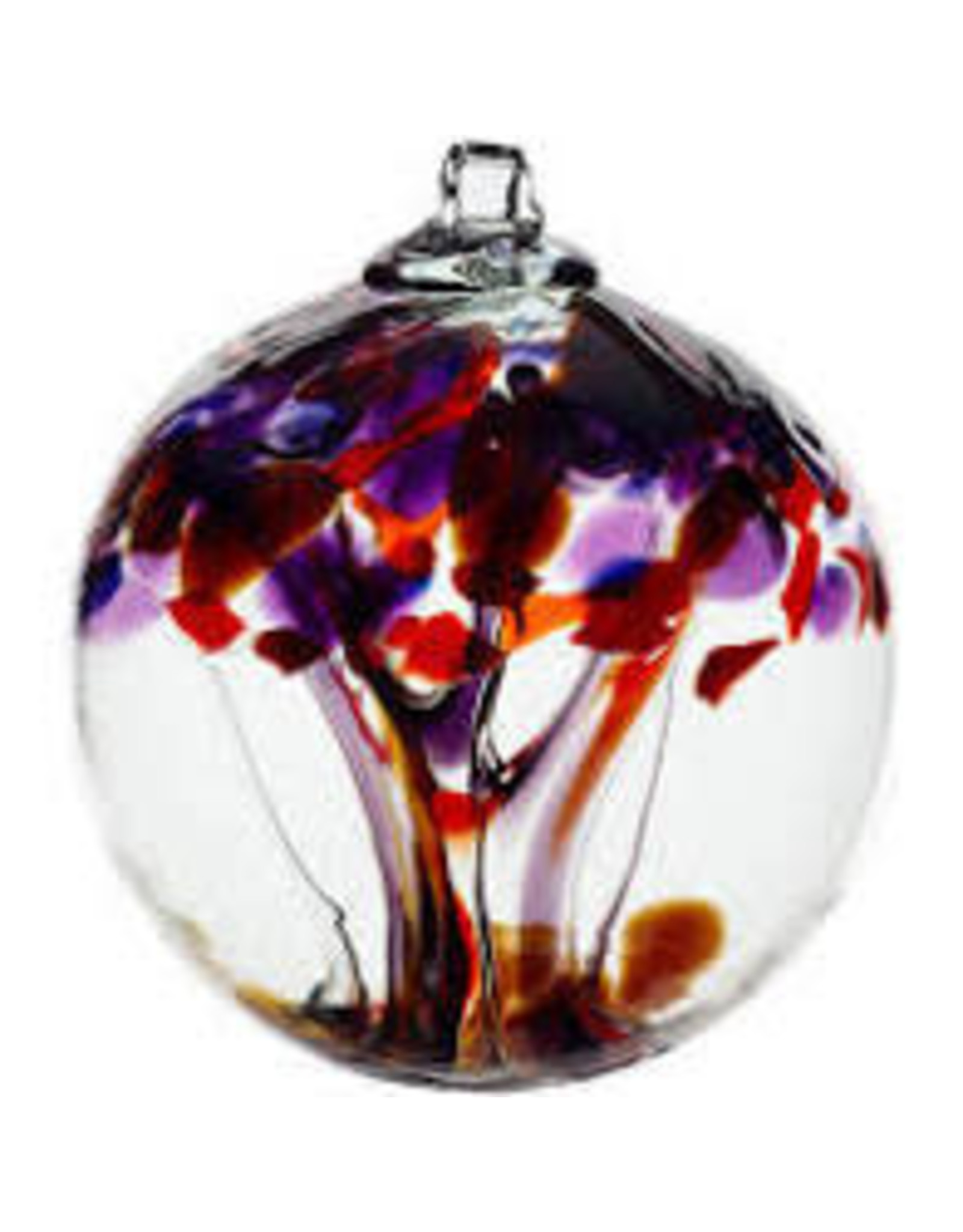 "Kitras Art Glass COURAGE (Trees of Enchantment, 6"" D., KITRAS)"